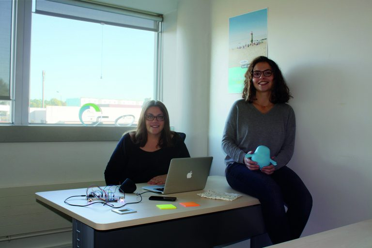 Sandrine Bender-CEO(left) & Alizée Gottardo-CTO (right) Meyko
