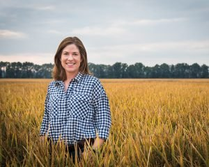 Jennifer James is a fourth-generation rice, soybean and corn farmer from Newport, Arkansas